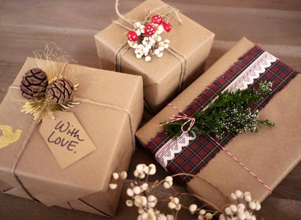 Cách gói quà từ giấy vitage