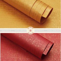 Giấy gói quà cao cấp hình hoa văn cổ