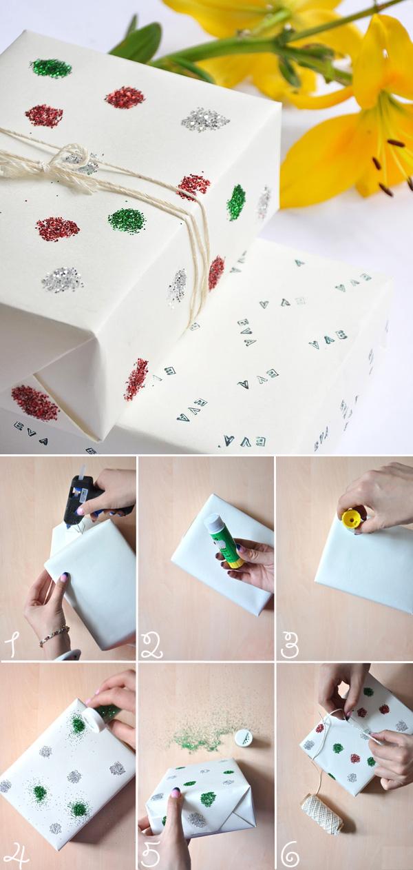 Cách tự chế giấy gói quà kim tuyến