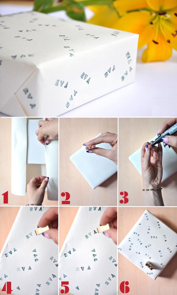 Cách tự chế giấy gói quà có ghi tên người đặc biệt