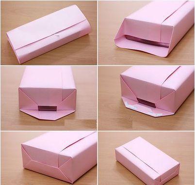 Cách gói quà sinh nhật hình hộp chữ nhật đơn giản
