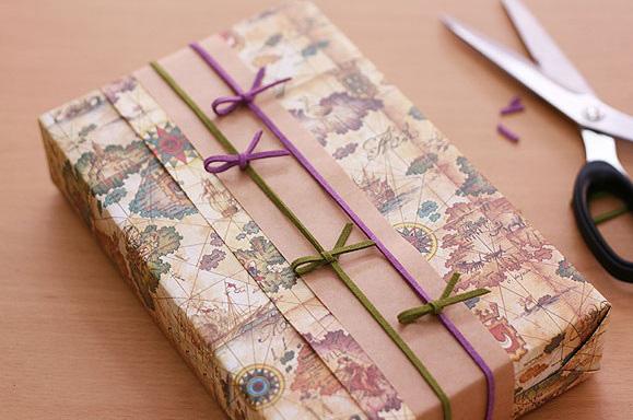 Thành phẩm của cách gói quà sinh nhật đẹp hình hộp chữ nhật
