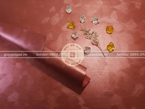 Giấy gói quà cao cấp sợi len màu đỏ