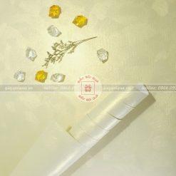 Giấy gói quà cao cấp sợi len màu vàng nhạt