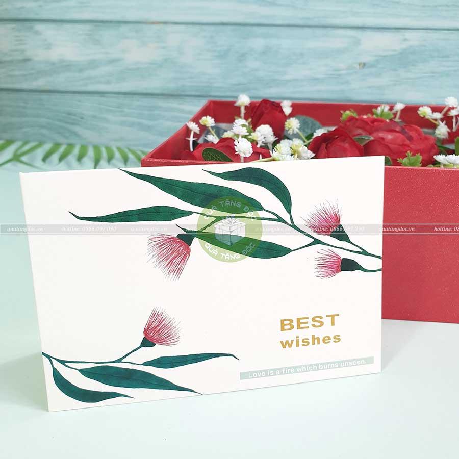 Thiệp tặng valentine, thiệp 8/3 TM13 – Best Wishes