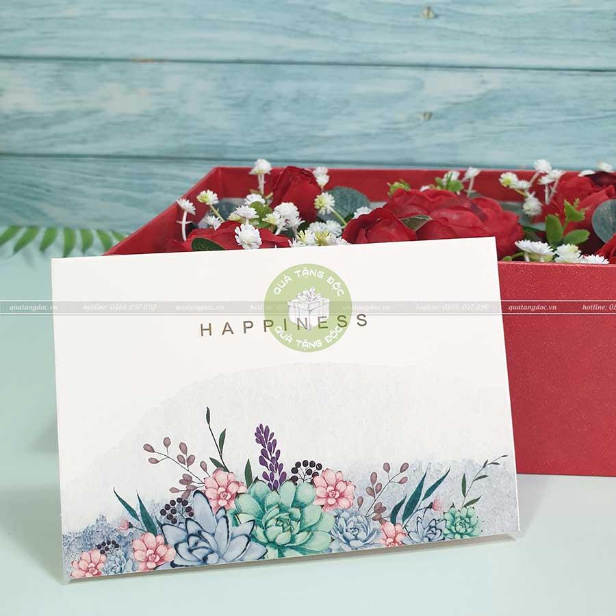Thiệp chúc mừng ý nghĩa TM04 – Happiness