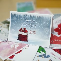 TM17 – Thiệp Mừng Merry Chrismas And Happy New Year