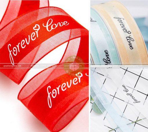 Ruy băng lụa voan 2,5cm Forever Love – RB33